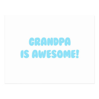 My Grandpa is Awesome in Blue Postcard