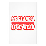 My Grandpa Is My Hero Stationery Paper