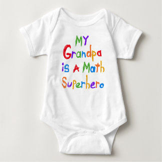 My Grandpa Math Superhero T-shirts and Gifts