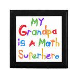 My Grandpa Math Superhero T-shirts and Gifts Jewelry Box