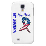 My Grandpa My Hero Patriotic Grunge Ribbon Galaxy S4 Case