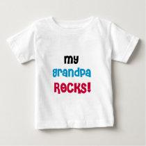 My Grandpa Rocks Baby T-Shirt