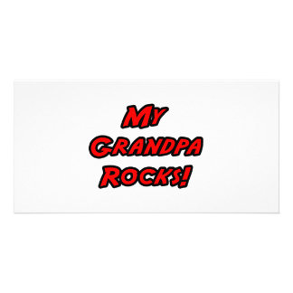 My Grandpa Rocks Customized Photo Card