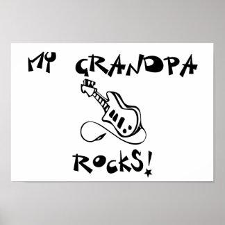My Grandpa Rocks guitar Poster