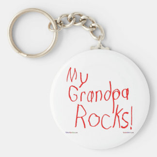 My Grandpa Rocks! Keychain