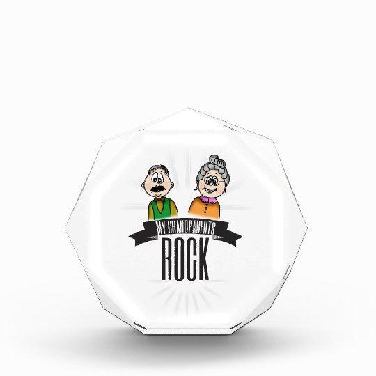 My Grandparents Rock Acrylic Award