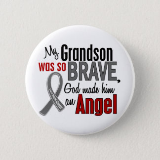 My Grandson Is An Angel 1 Brain Cancer Button