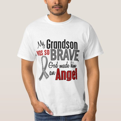 My Grandson Is An Angel 1 Brain Cancer T Shirt