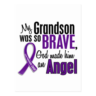 My Grandson Is An Angel Pancreatic Cancer Postcard