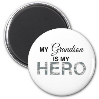 My Grandson is my Hero Digital Camouflage Fridge Magnets