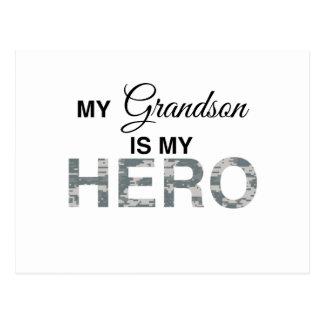 My Grandson is my Hero Digital Camouflage Postcard