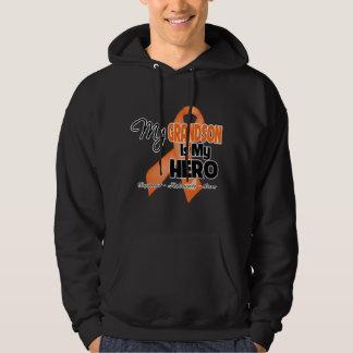 My Grandson is My Hero - Leukemia Hooded Sweatshirt