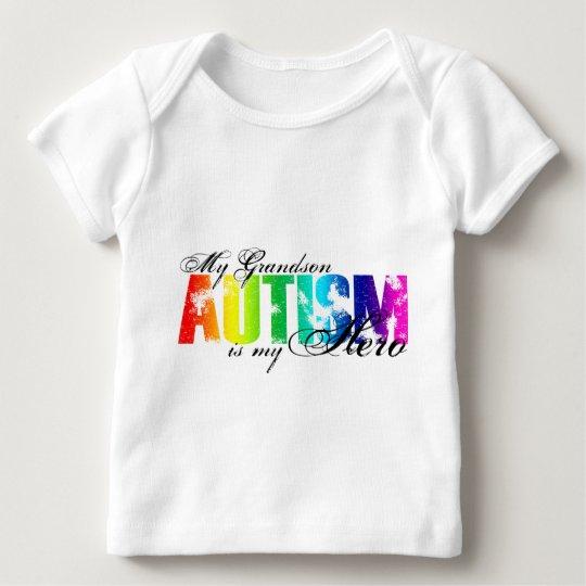 My Grandson My Hero - Autism Baby T-Shirt