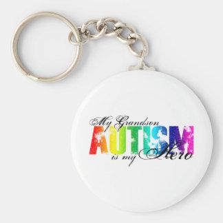 My Grandson My Hero - Autism Keychain