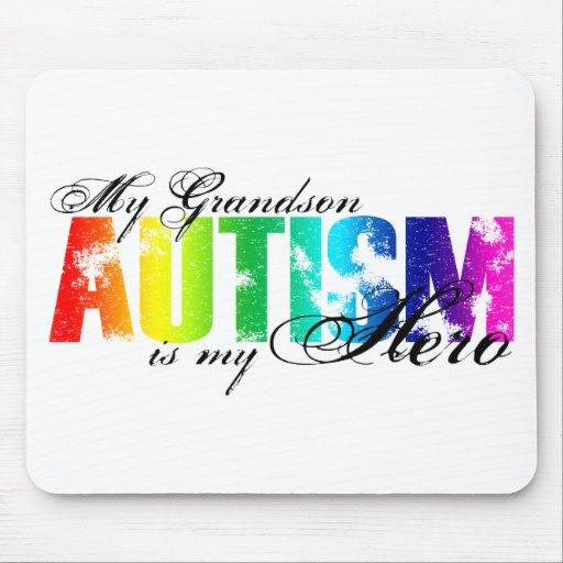 My Grandson My Hero - Autism Mousepad