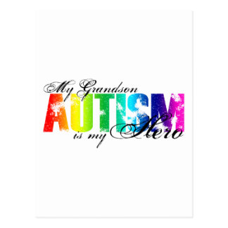 My Grandson My Hero - Autism Postcard