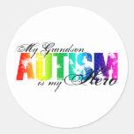 My Grandson My Hero - Autism Round Sticker