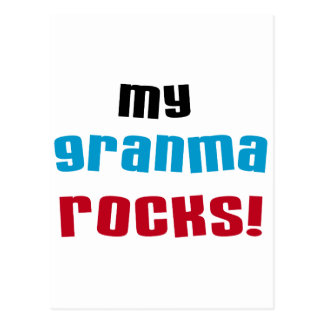 My Granma Rocks T shirts and Gifts Postcard
