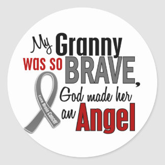 My Granny Is An Angel 1 Brain Cancer Classic Round Sticker