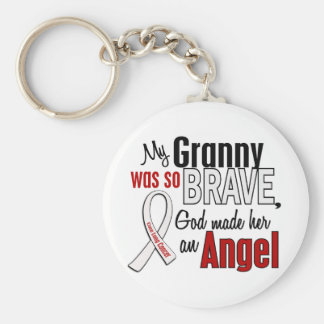 My Granny Is An Angel Lung Cancer Keychain