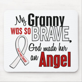 My Granny Is An Angel Lung Cancer Mouse Pad