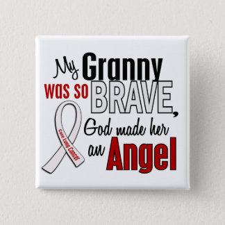 My Granny Is An Angel Lung Cancer Pinback Button