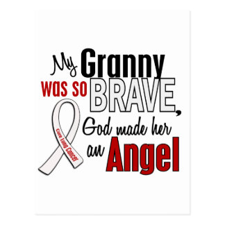 My Granny Is An Angel Lung Cancer Postcard