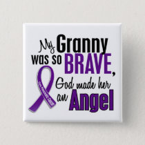 My Granny Is An Angel Pancreatic Cancer Pinback Button