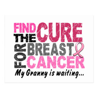 My Granny Is Waiting Breast Cancer Postcard