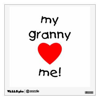 My granny loves me wall sticker