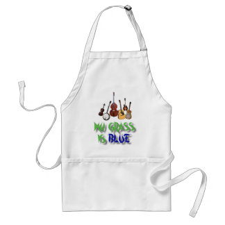 MY GRASS IS BLUE-APRON ADULT APRON