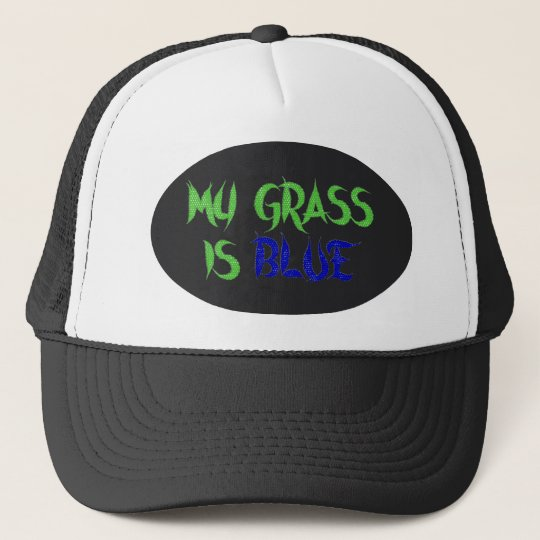 MY GRASS IS BLUE-HAT TRUCKER HAT