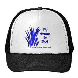 MY GRASS IS BLUE TRUCKER HAT