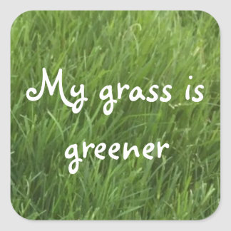 My Grass is Green Stickers
