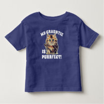 """My Grauntie Is Purrfect!"" with Fuzzy Kitten Toddler T-shirt"