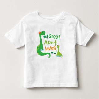 My Great Aunt Loves Me Dinosaur Toddler T-shirt