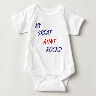 My Great Aunt Rocks! Baby one piece Baby Bodysuit