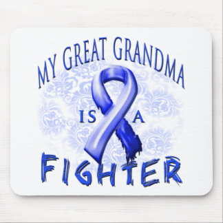 My Great Grandma Is A Fighter Blue Mouse Pad