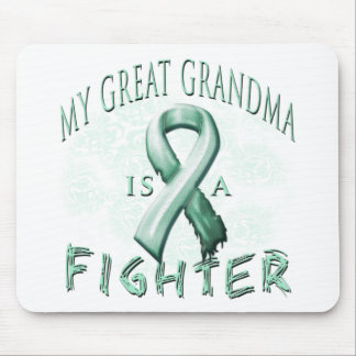 My Great Grandma is a Fighter Teal Mouse Pad
