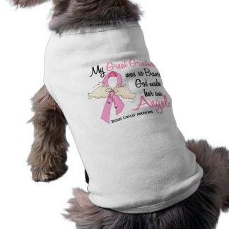 My Great Grandma Is An Angel 2 Breast Cancer Dog Tshirt