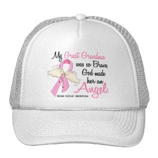 My Great Grandma Is An Angel 2 Breast Cancer Trucker Hat