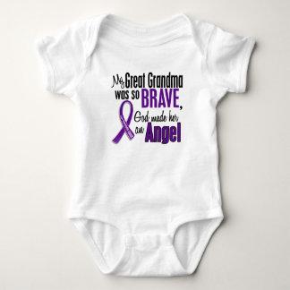 My Great Grandma Is An Angel Pancreatic Cancer Baby Bodysuit