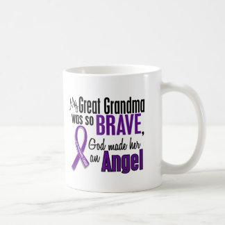 My Great Grandma Is An Angel Pancreatic Cancer Coffee Mug