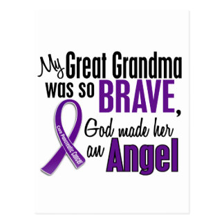 My Great Grandma Is An Angel Pancreatic Cancer Postcard