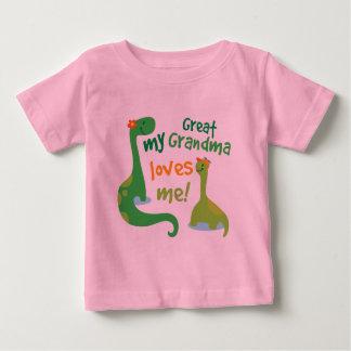 My Great Grandma Loves Me Dinosaur Baby T-Shirt