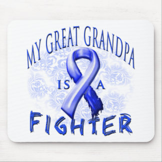 My Great Grandpa Is A Fighter Blue Mouse Pad