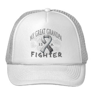 My Great Grandpa Is A Fighter Grey Trucker Hat