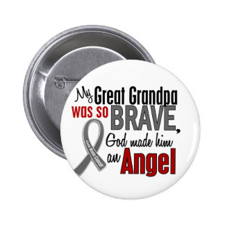 My Great Grandpa Is An Angel 1 Brain Cancer Button