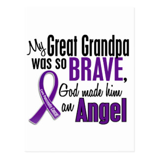 My Great Grandpa Is An Angel Pancreatic Cancer Postcard