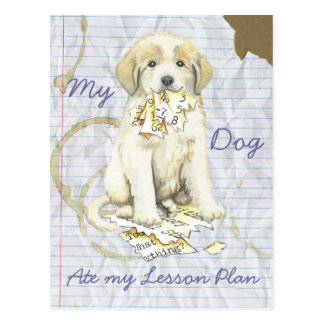 My Great Pyrenees Ate My Lesson Plan Postcard
